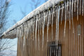 Icicles On The Roof Royalty Free Stock Photo - 53286585