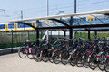 Bikes At The Trainstation Royalty Free Stock Photo - 53289265