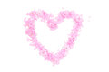 Heart Shape Made From Pink Petals And Blossoms Stock Photos - 53294183