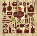 Kitchen Icons Set Of Tools. Stock Photography - 53296222
