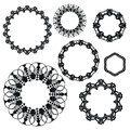 Set Of Crochet Lacy Frames. Royalty Free Stock Photography - 53302907