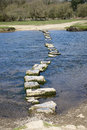Granite Stepping Stones Cross A River Stock Photo - 53303480