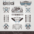Set Woodcraft And Carpenter Label Style Royalty Free Stock Photos - 53306318