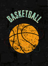 Basketball Vintage Grunge Style Poster. Retro Vector Illustration. Stock Image - 53306651