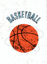 Basketball Vintage Grunge Style Poster. Retro Vector Illustration. Stock Photography - 53306682
