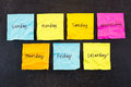 Days Of Week Sticky Notes Stock Images - 53320154