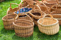 Wicker Baskets At Market Stock Image - 53325411