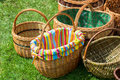 Wicker Baskets At Market Royalty Free Stock Photo - 53325415