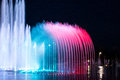 Daedepo Musical Fountain Korea, Colorful Fountain Like A Crown Stock Images - 53325944