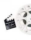 Original Vintage Movie Reel For 35mm Film Projector With Clapper Stock Photography - 53336112