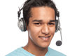 Young Man With Headset. Stock Photography - 53341842