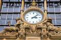 Ancient Clock In Frankfurt Bahnhof Stock Photos - 53347103