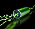 Green Energy Power Supply Battery Sparks Stock Photography - 53350512