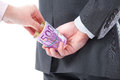 Businessman In A Suit Takes A Bribe Stock Photography - 53356112