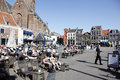 People Enjoy The Sunshine In The Old City Of Amersfoort Stock Photography - 53356912