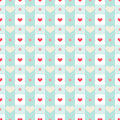 Gingham With Hearts Stock Images - 53359354