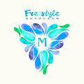 Vintage Inspired Watercolor Freestyle Monogram Frame Template Royalty Free Stock Photo - 53360725