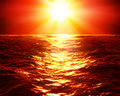 Red Sunset Over Sea Royalty Free Stock Photos - 53361598