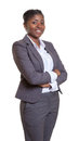 Attractive Business Woman From Africa With Crossed Arms Stock Photography - 53370612