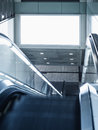 Billboard Mocked Up In Subway Station With Escalator Royalty Free Stock Image - 53377016