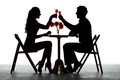Couple Having Dinner With Wine Glass On Table Stock Photo - 53381050