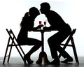 Couple Having Dinner With Wine Glass On Table Royalty Free Stock Photo - 53381145