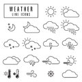 Weather Icons Royalty Free Stock Image - 53387936