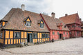 AARHUS, DENMARK - APRIL 12, 2015: Medieval Houses The Streets Of Stock Photography - 53393842