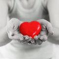 Red Heart Shape Health Love Support Royalty Free Stock Photos - 53396778