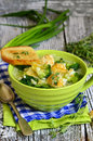 Soup With Broccoli,rice And Chicken Meatball. Royalty Free Stock Photography - 53401227