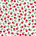 Small  Red Flowers Seamless Pattern Stock Images - 53403264