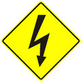 Electrical Hazard High Voltage Sign Isolated Macro Royalty Free Stock Photography - 53403407