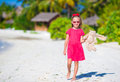 Adorable Little Girl Playing With Toy During Beach Royalty Free Stock Image - 53404446