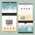Simplicity One Page Website Template Design Royalty Free Stock Photos - 53419358