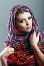 Woman Scarf Royalty Free Stock Images - 53425249