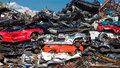 Pile Of Used Cars, Car Scrap Yard Stock Photos - 53429403
