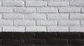 Black And White Bricked Wall Stock Photography - 53429562