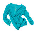 Sea-green Pullover In Motion In The Air Stock Image - 53429781