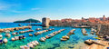 Beautiful Sunny Day Over The Bay In Front Old Town Of Dubrovnik Stock Photography - 53432662