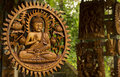 Budha In Wood Carved Royalty Free Stock Photography - 53437877