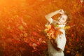 Autumn Woman. Beautiful Young Girl In Autumn Park Royalty Free Stock Photography - 53440477