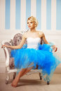 Dancer, Ballerina. Cute Woman Looks Like A Doll In A Sweet Inter Stock Images - 53445524