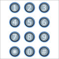 Set Of Buttons With Number Royalty Free Stock Image - 53446316