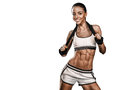 Fitness Woman Portrait Iso Royalty Free Stock Images - 53448819