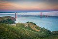 Sunset View Of The Golden Gate Bridge In Fog  Stock Image - 53450341