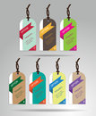 Modern Colorful Tags And Hanging Labels Design With Sample Text, Royalty Free Stock Image - 53452656