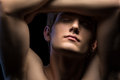 Close-up Portrait Of An Attractive Man With Naked Stock Image - 53455251