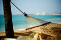 Hammock Relaxation On Beach And Ocean Royalty Free Stock Photo - 53459355