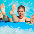 Man At Water Park Stock Images - 53463904