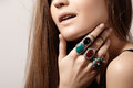 Luxurious Style With Awesome Chic Jewellery, Vintage Ring. Romantic Boho Accessory Stock Photo - 53467130